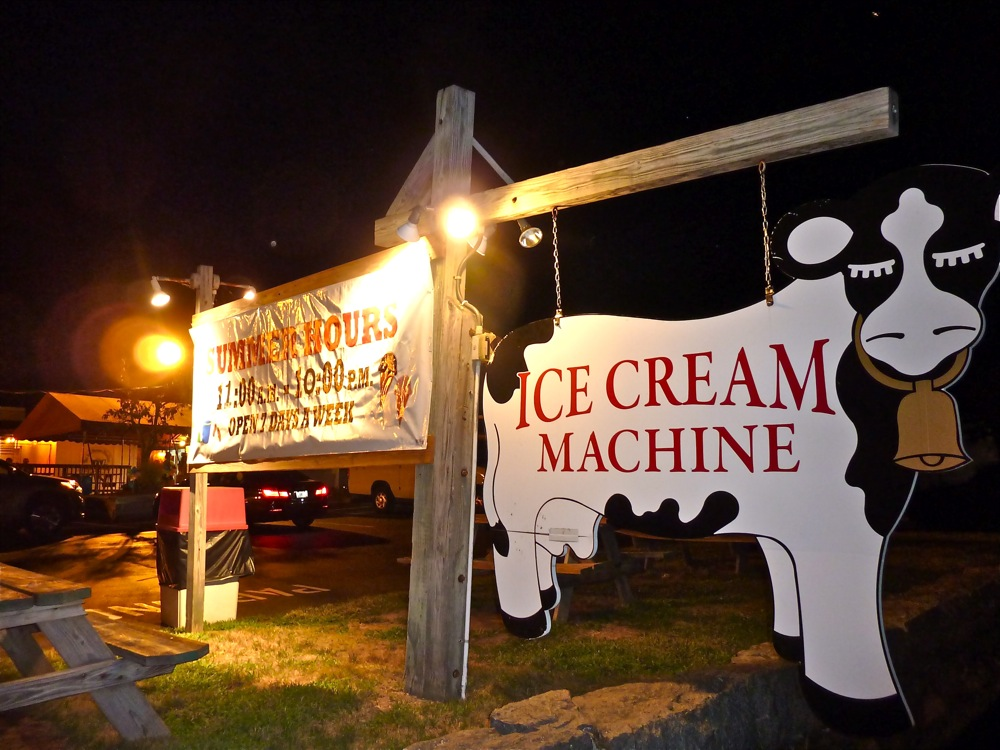 Ice Cream Machine sign, Cumberland, Rhode Island
