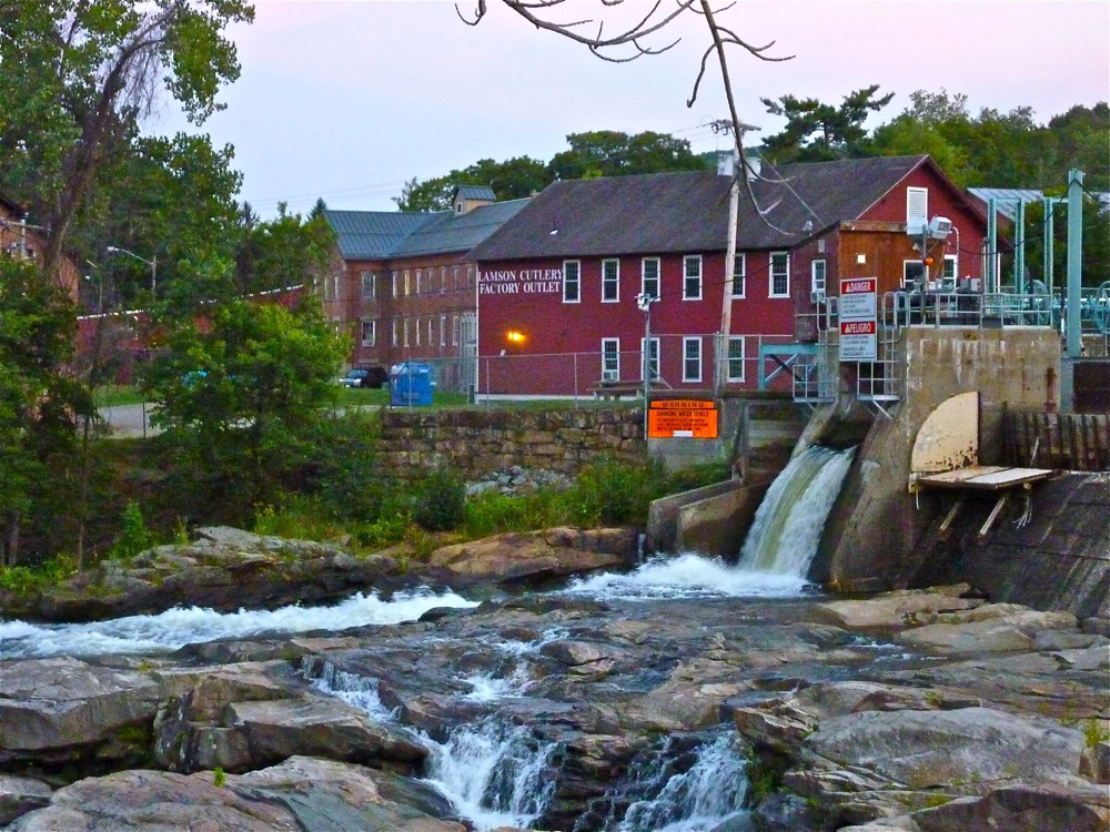 Salmon Falls at the glacial potholes in Shelburne Falls MA
