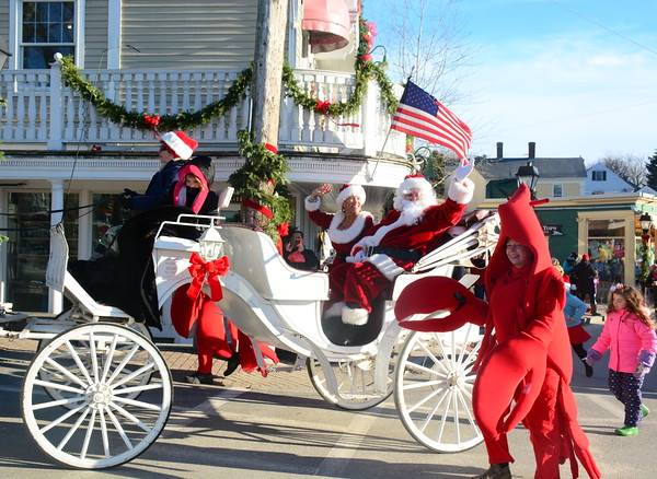 Christmas Prelude parade in Kennebunkport, Maine. Photo credit: Robert Dennis