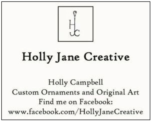 Holly Campbell customer ornaments and original art