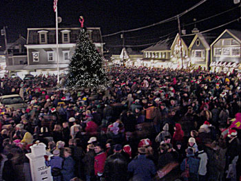 Christmas Prelude tree lighting ceremony at Dock Square, Kennebunkport, Maine. Photo credit: Robert Dennis