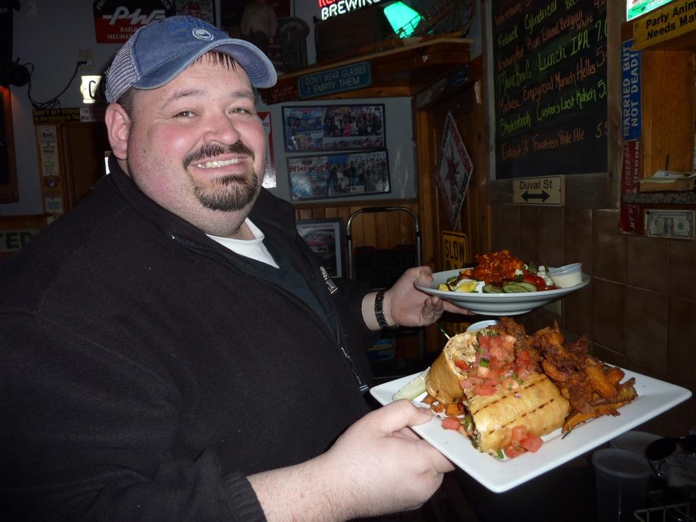 Adam Hicks, owner of the Depot Street Tavern in Milford, Mass.