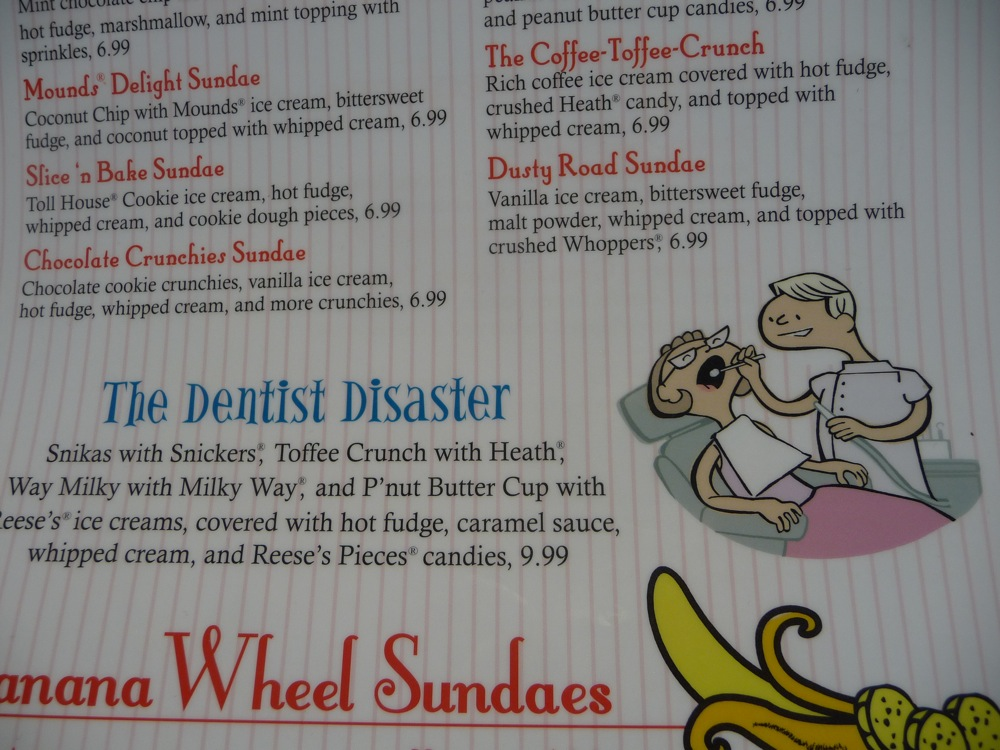 """The Dentist Disaster"" from Cabot's in Newton MA"