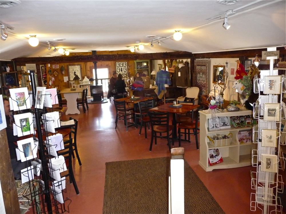 Gift shop and dining area at The Country Store in Petersham MA