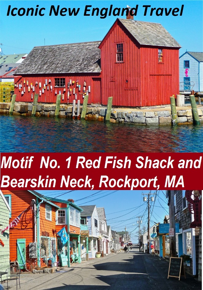 Iconic New England travel; Motif No. 1 Red Fish Shack and Bearskin Neck in Rockport, Mass.