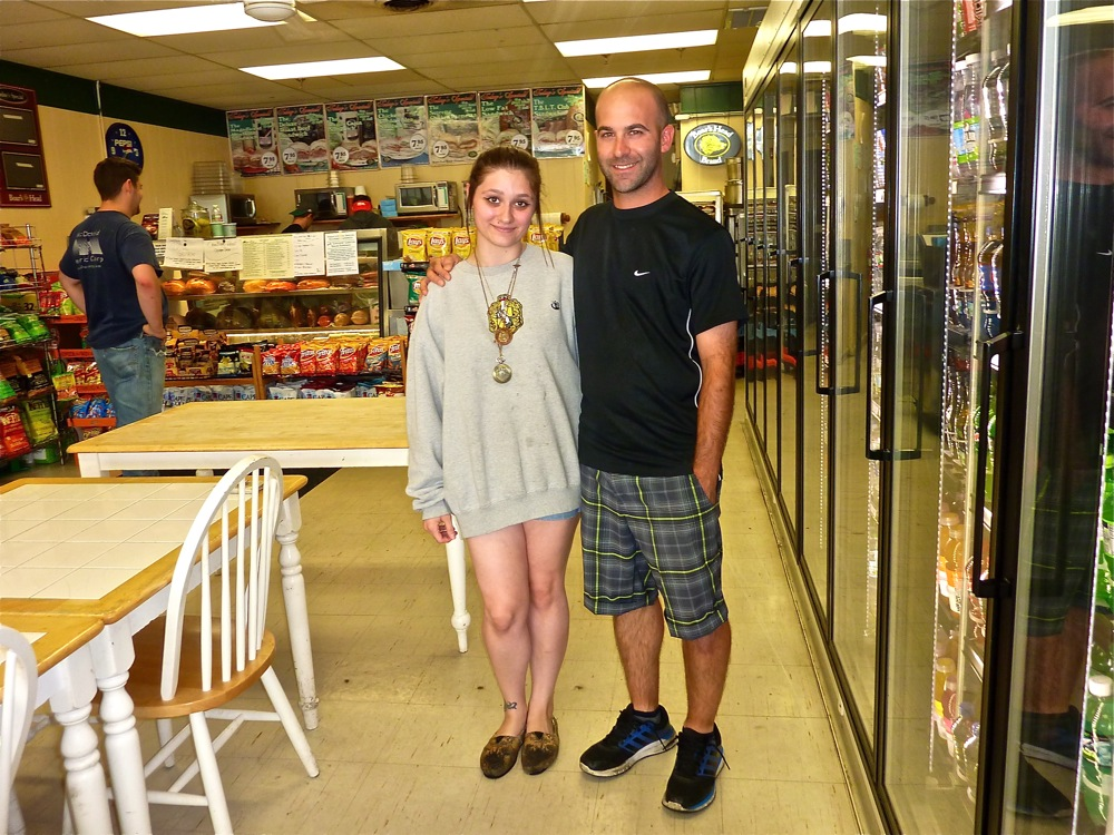 Alan Donaruma, manager at the Good Food Store in Walpole MA with niece and full time employee, Michelle Donaruma