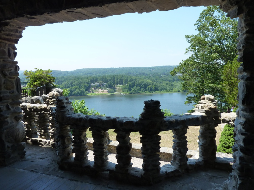 View of Connecticut River at the Gillette Castle in East Haddam, CT