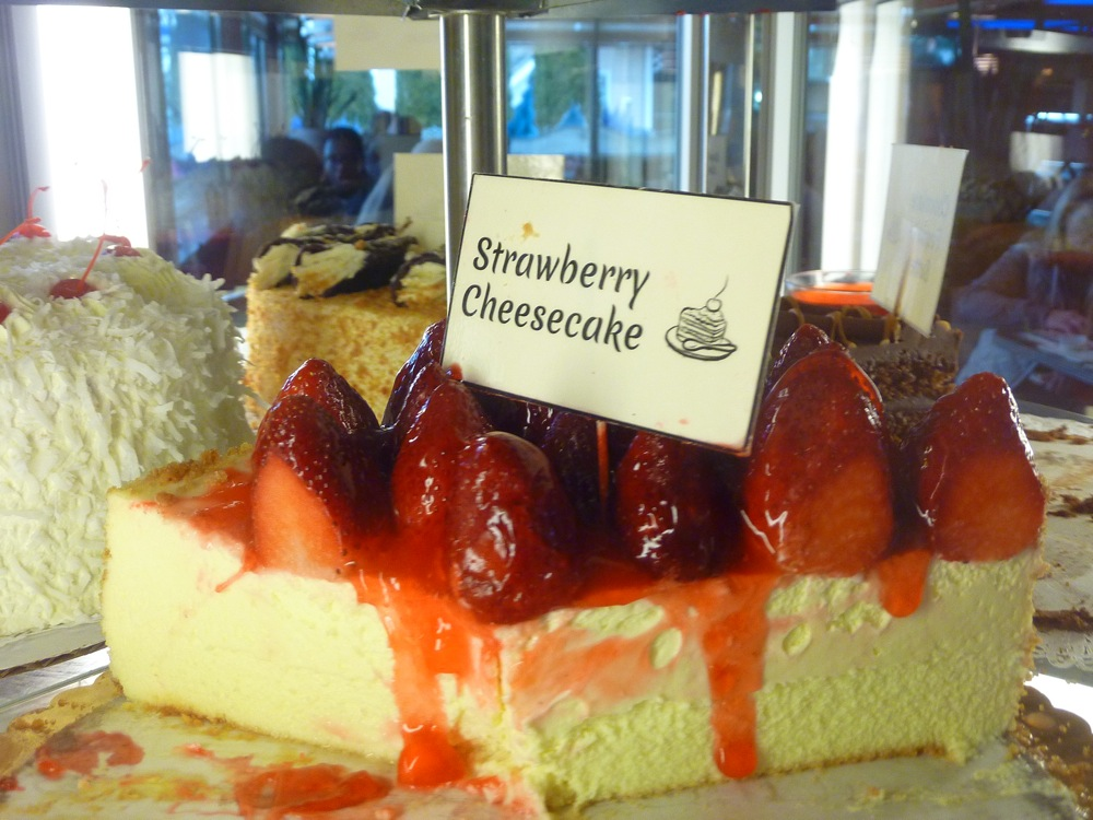 Strawberry Cheesecake from the Vernon Diner in Vernon CT