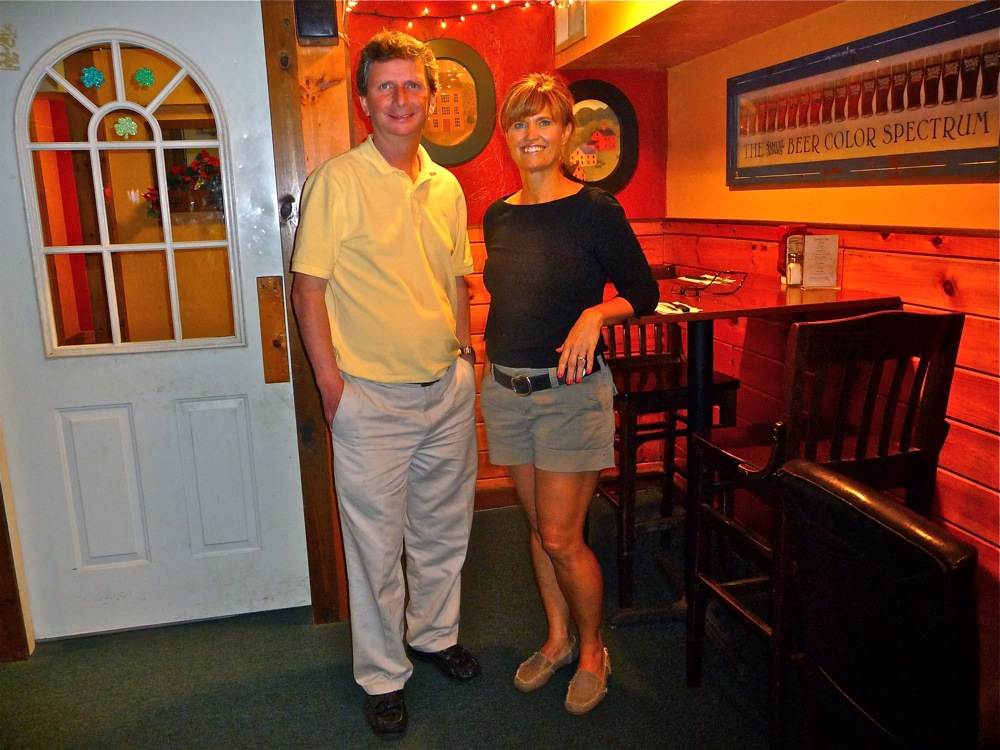 Tom Kirwan and Kristen Smith, business partners at Finnegan's Wake in Walpole, MA.