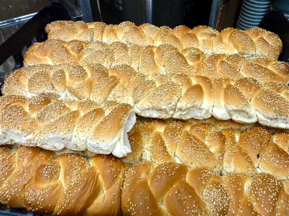 Braided Italian sandwich rolls from the Good Food Store in Walpole, MA