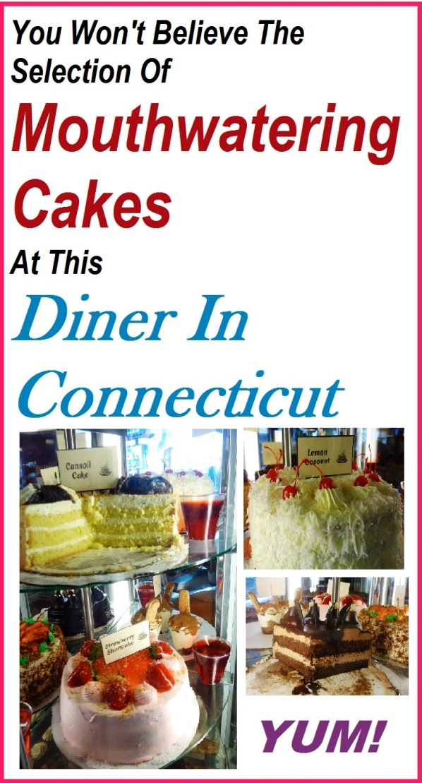 Yummy homemade cakes from the Vernon Diner in Vernon, Connecticut.