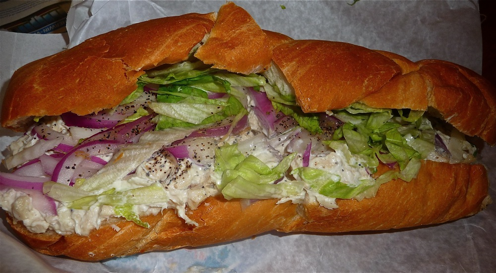 Chicken salad sub from C. Scott's in Walpole, MA.