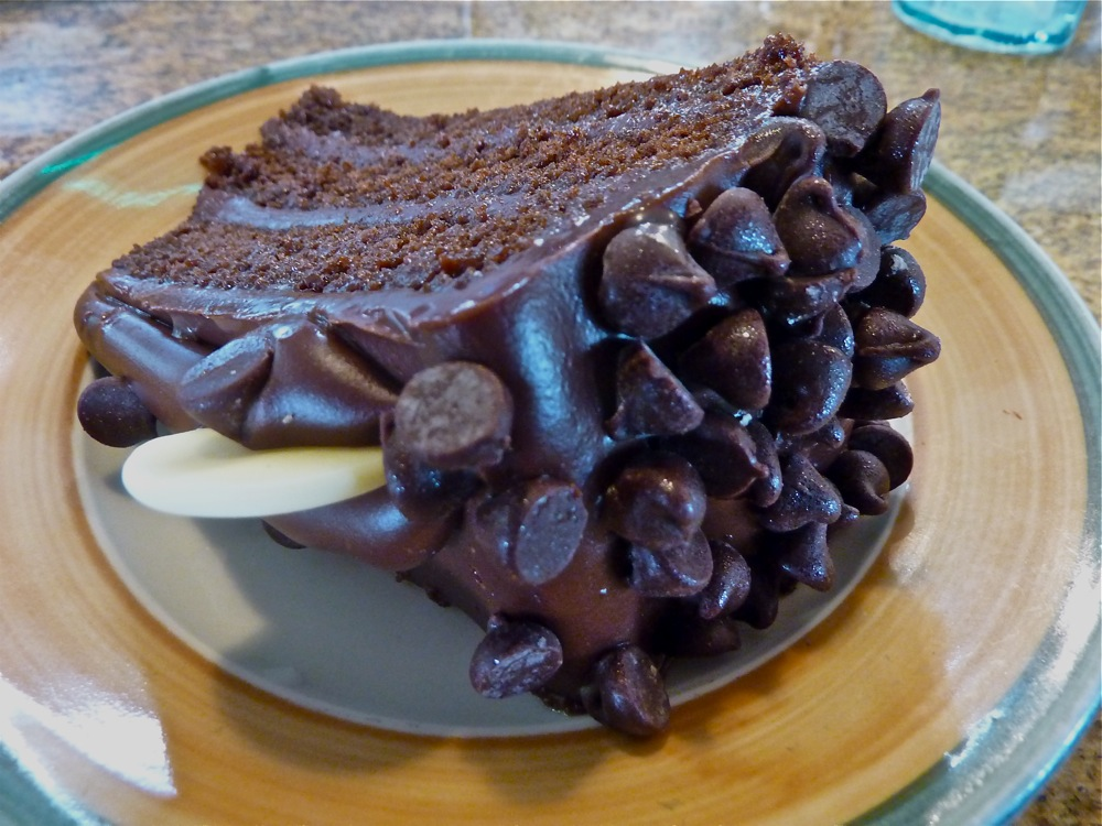 Chocolate cake from the Vernon Diner in Vernon, Connecticut