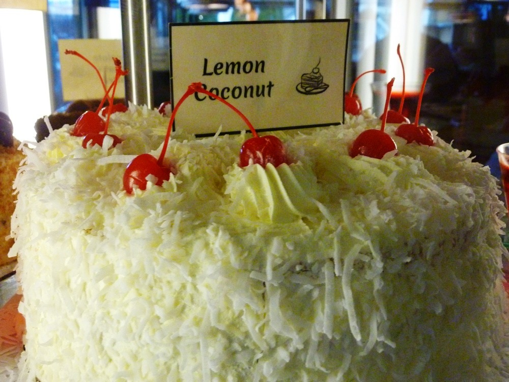 Lemon coconut cake from the Vernon Diner in Vernon CT