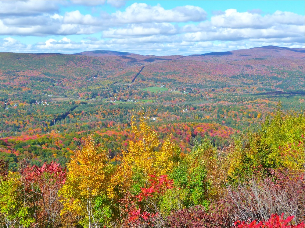 Just up the road from the Hairpin Turn is this beautiful mountain view on the Mohawk Trail in the Berkshires of Massachusetts.