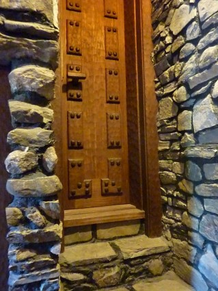 One of 47 doors at the Gillette Castle in East Haddam, Connecticut
