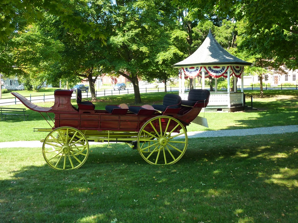 Carriage and bandstand at Weston Town Common, Weston Vermont