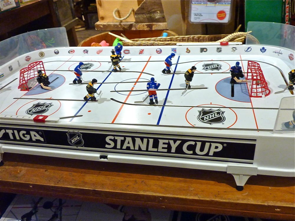 Retro table hockey game at the Vermont Country Store in Weston, Vt.