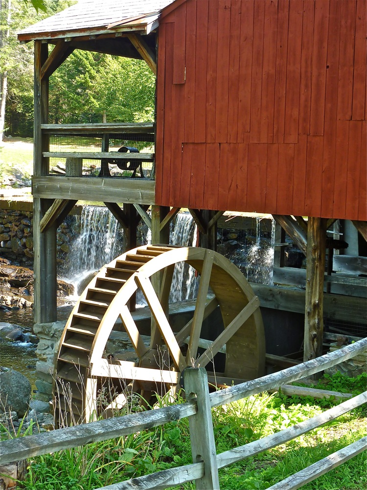 Weston Vermont Mill Museum water wheel