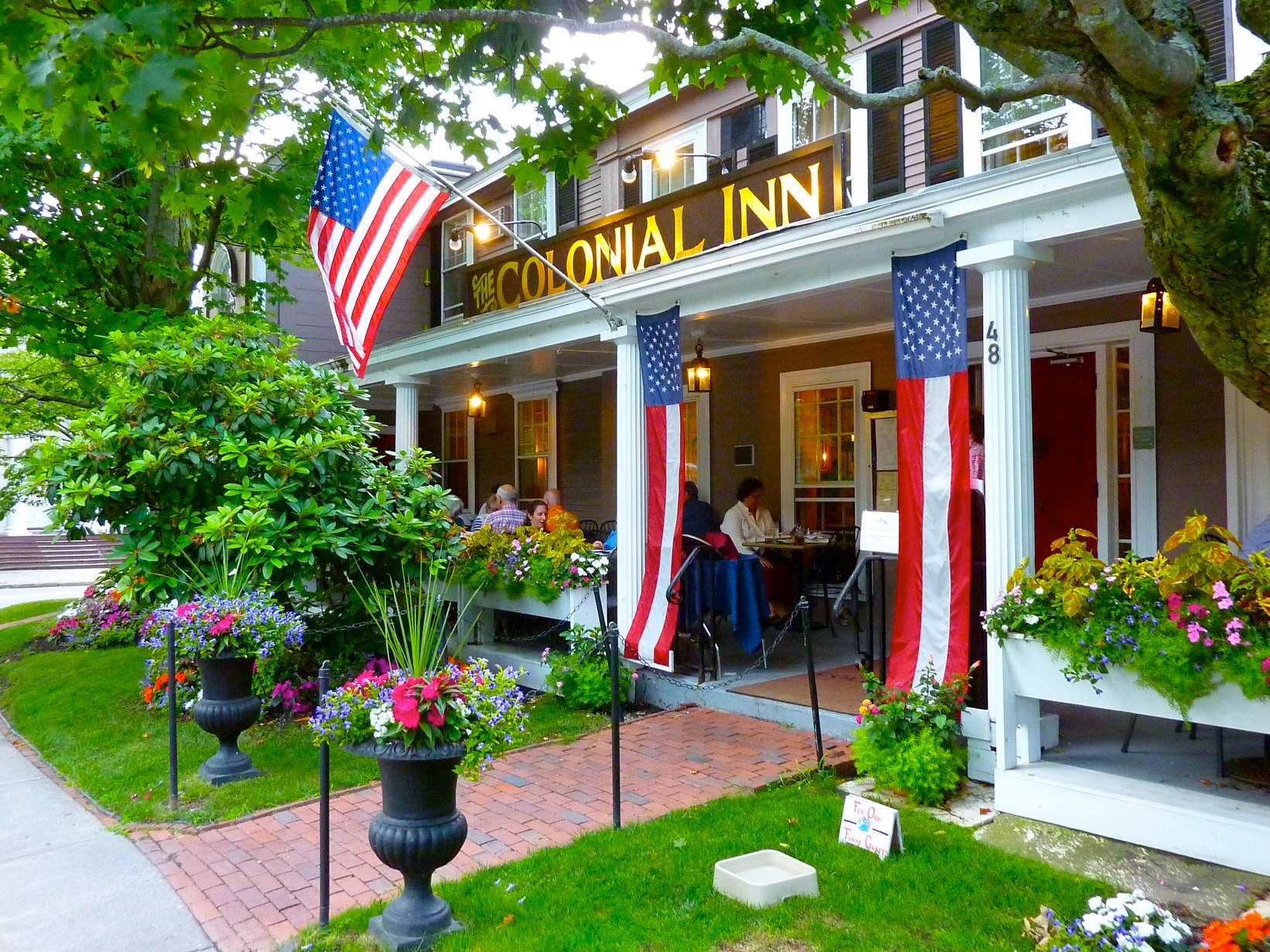Colonial Inn at Monument Square in downtown Concord, Massachusetts.