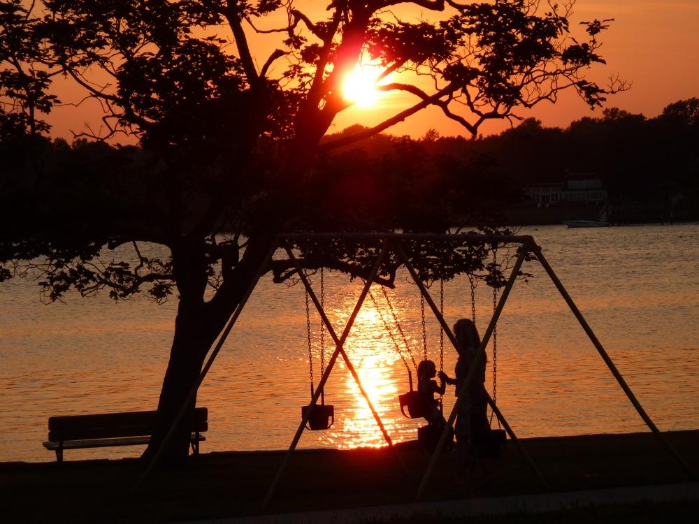 Sunset in Warren, Rhode Island