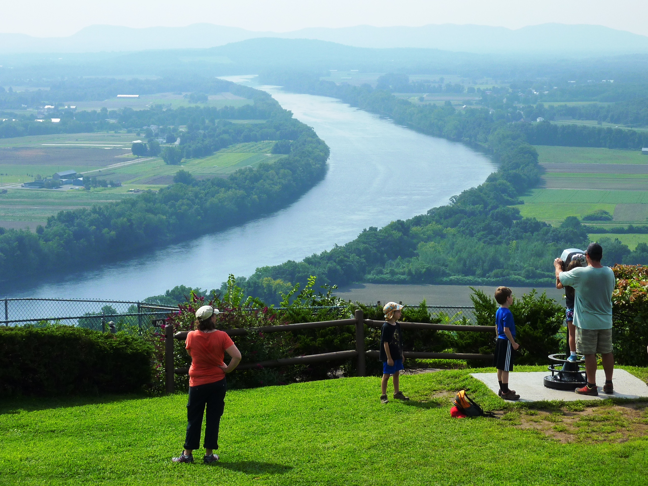 View of the Connecticut River Valley from Mt. Sugarloaf State Reservation in South Deerfield, Massachusetts.