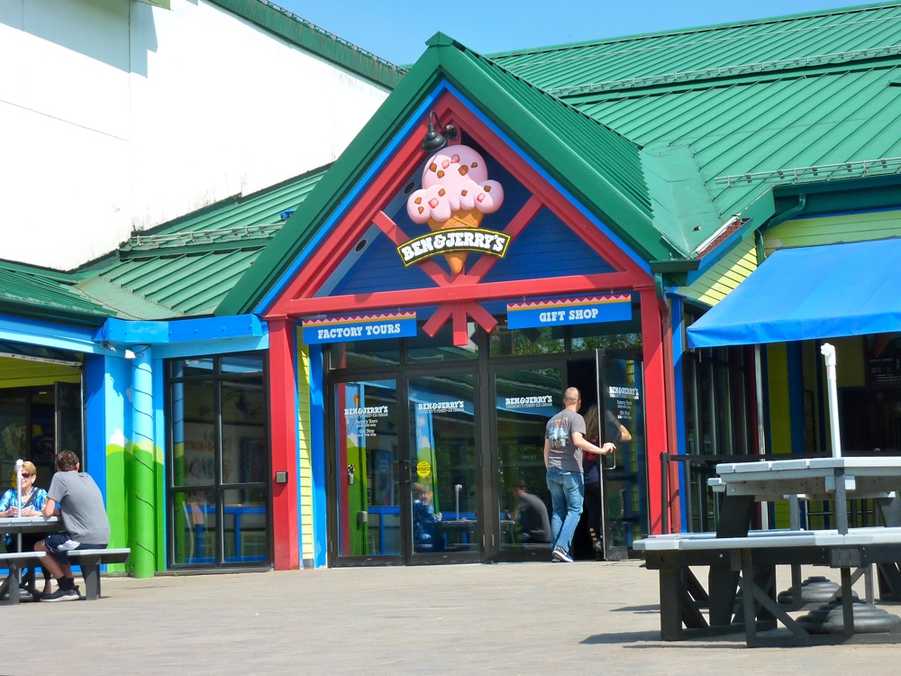 Ben and Jerry's Ice Cream Factory Tour, Waterbury, Vermont.