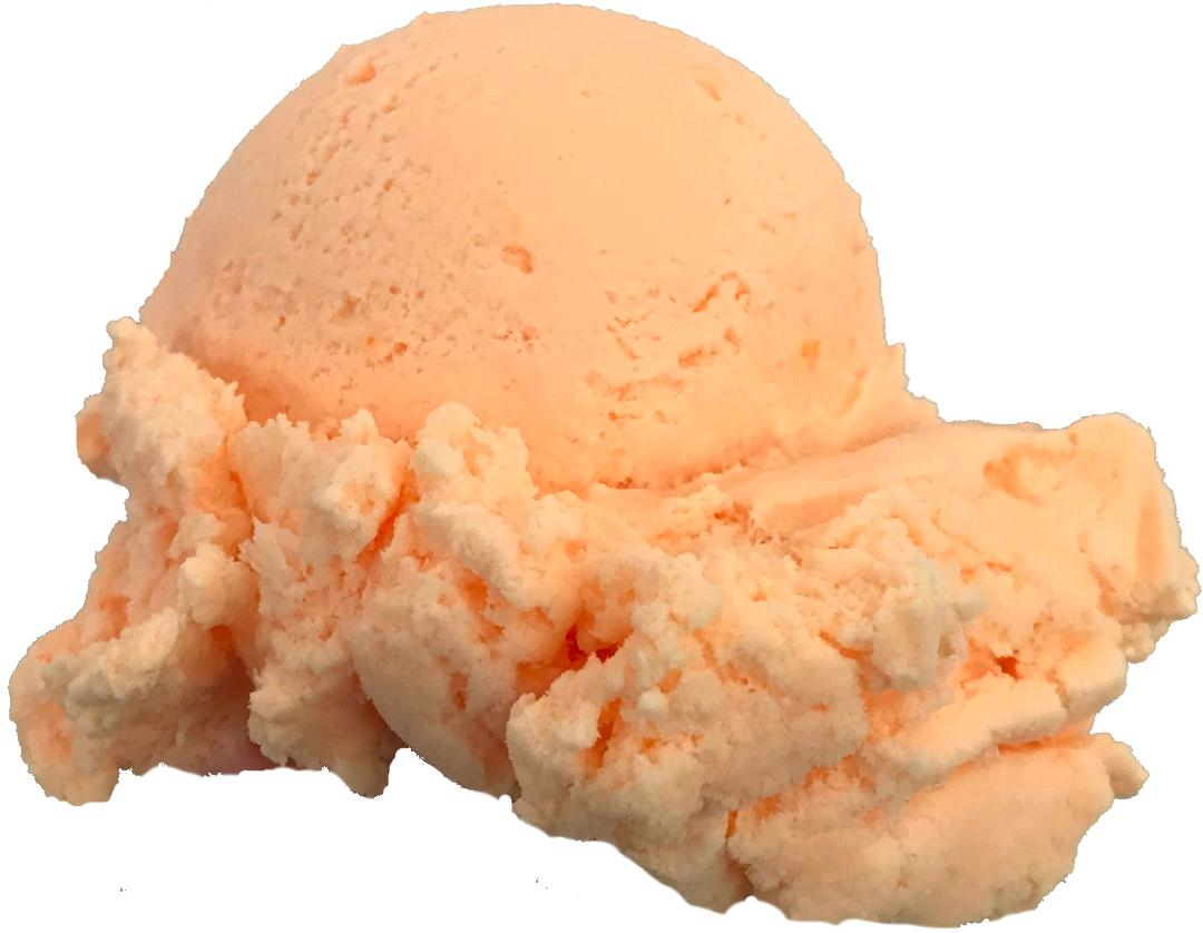 Delicious cantaloupe ice cream from Four Seas in Centerville, Mass. (Cape Cod). Photo, courtesy of Four Seas.