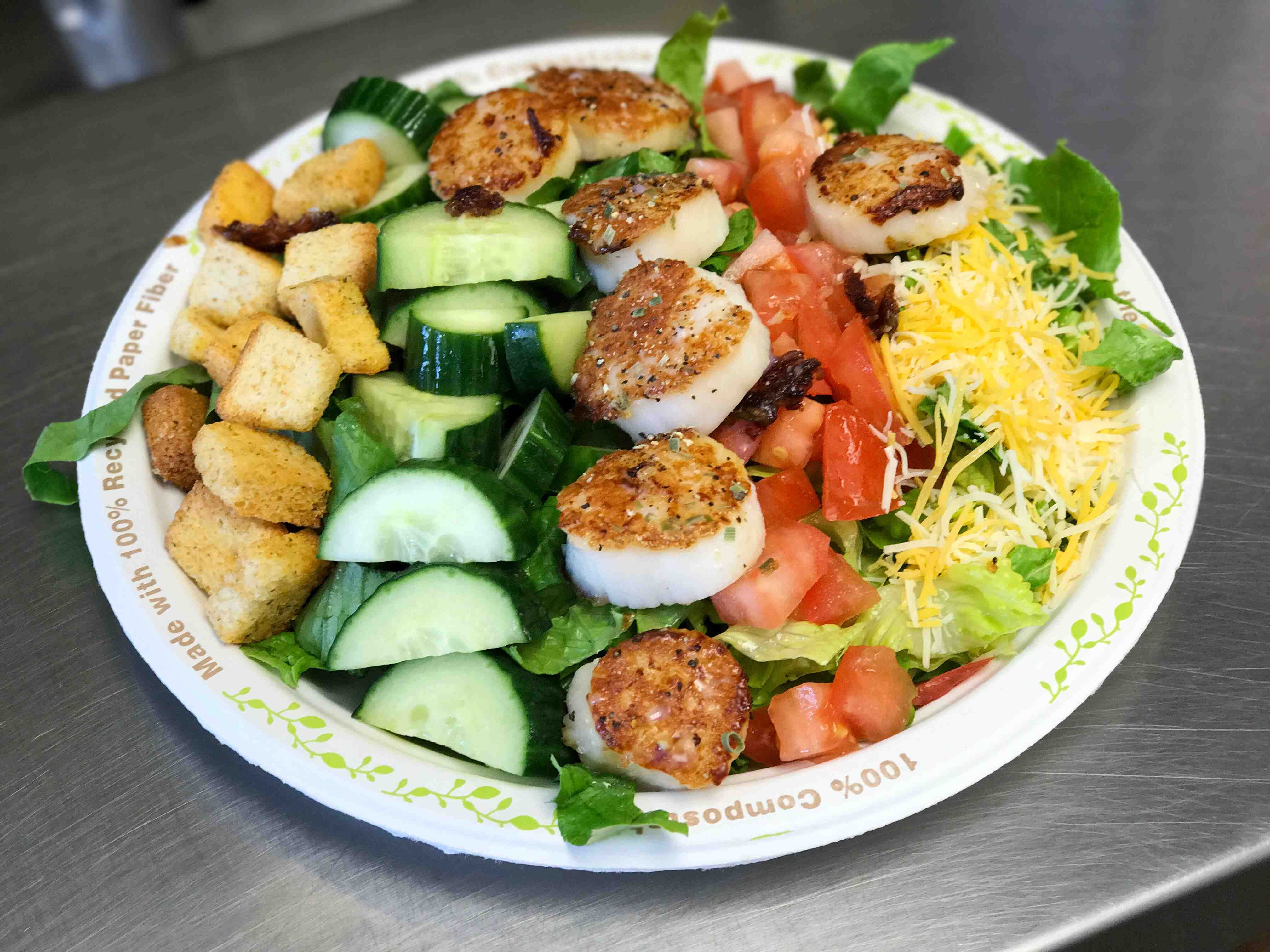 Garden Scallop Salad from The Beach Plum in Epping, NH.