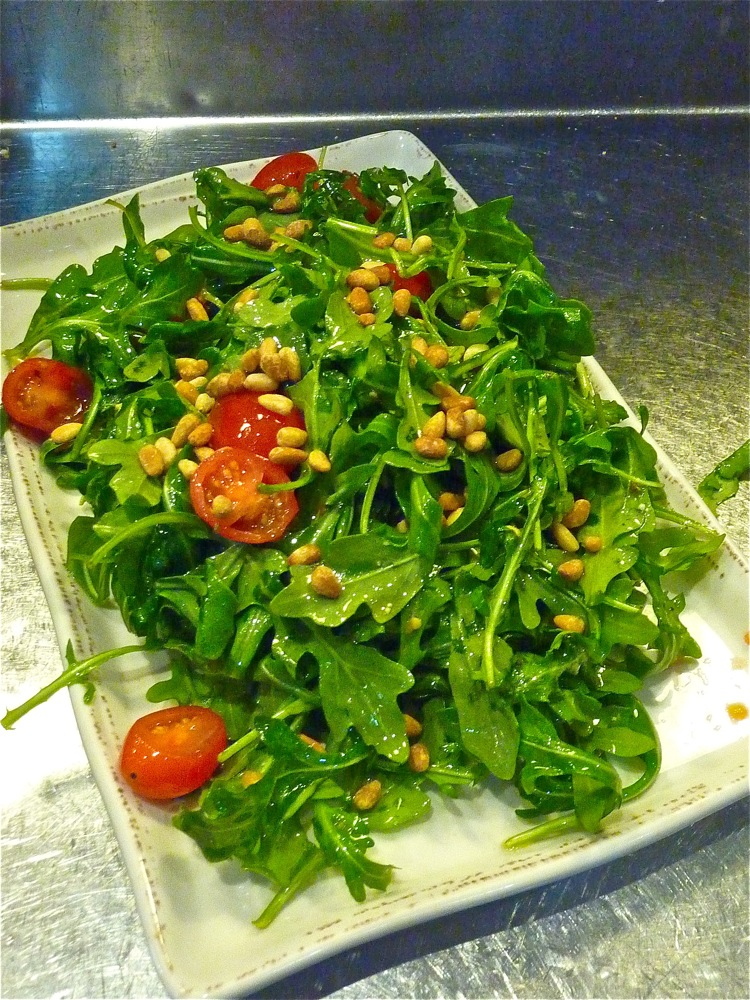 Fresh green salad from Red Heat Tavern in Bedford, Masachusetts..