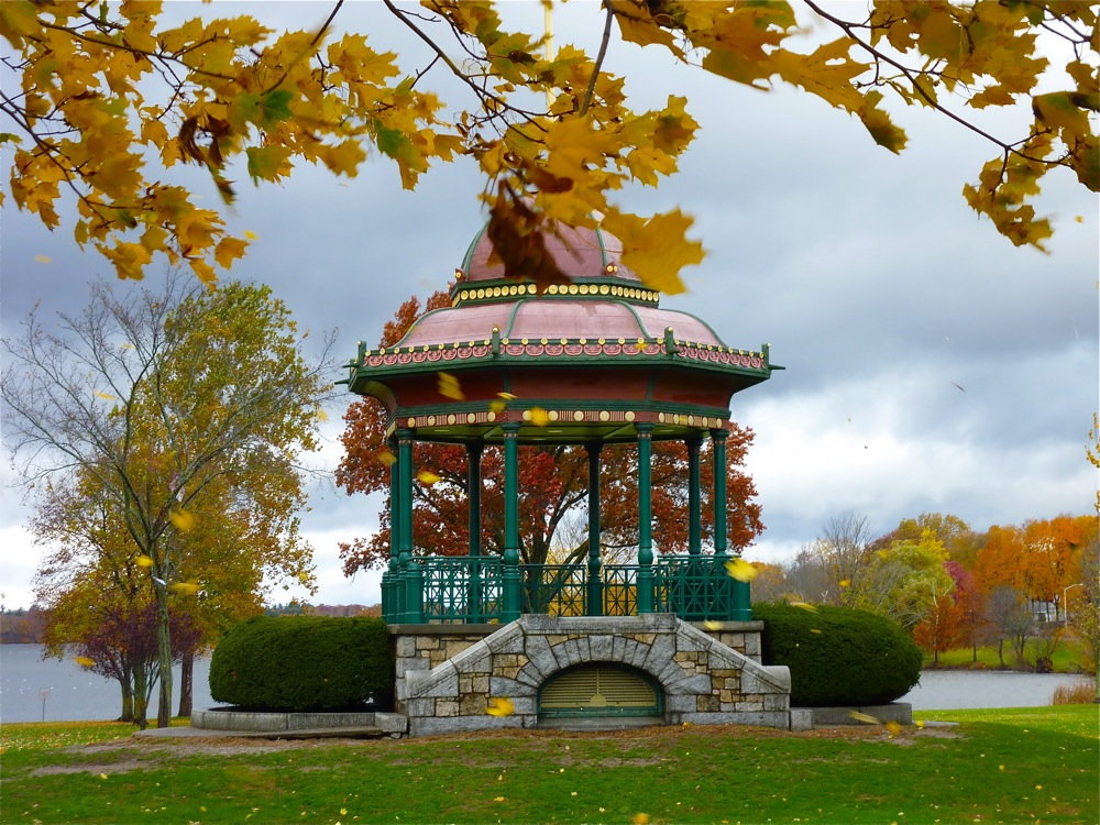 Historic bandstand at Lake Quannapowitt in Wakefield, Mass.