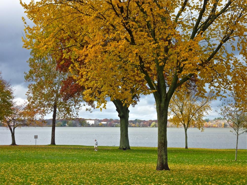 Lake Quannapowitt in Wakefield, Massachusetts.