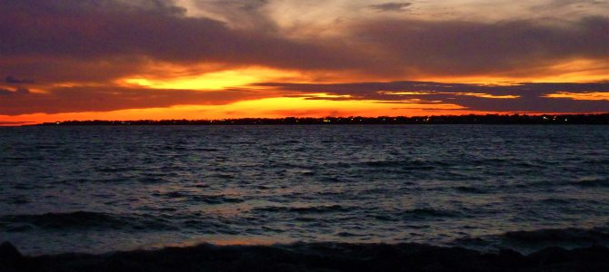 Sunset at Sachuest in Middletown, R.I.