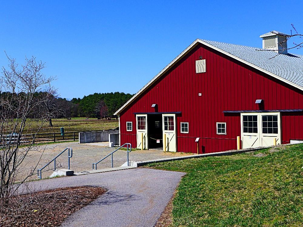New barn at the Aggie School in Walpole, Mass.