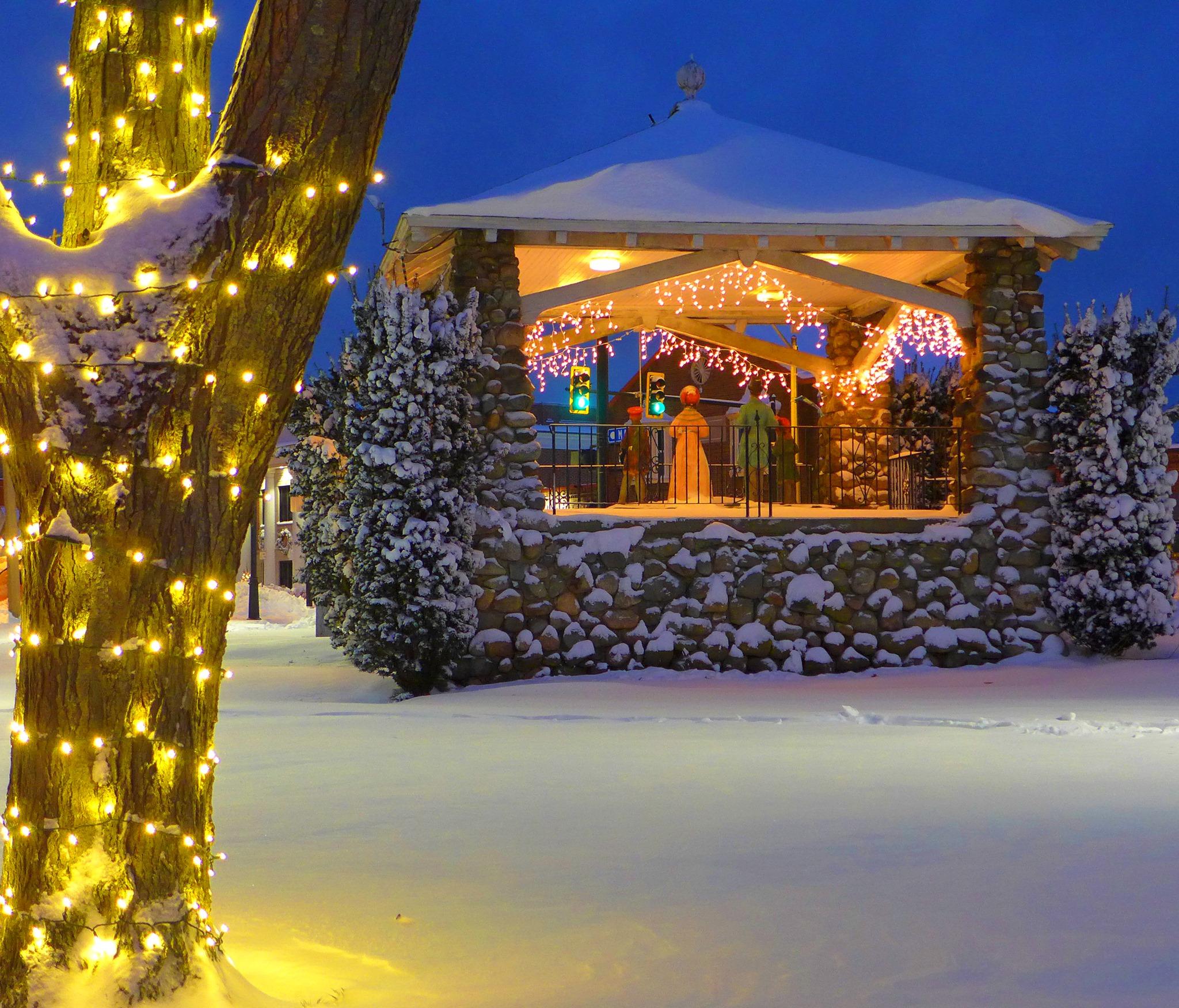 Christmas in downtown Walpole, Massachusetts.