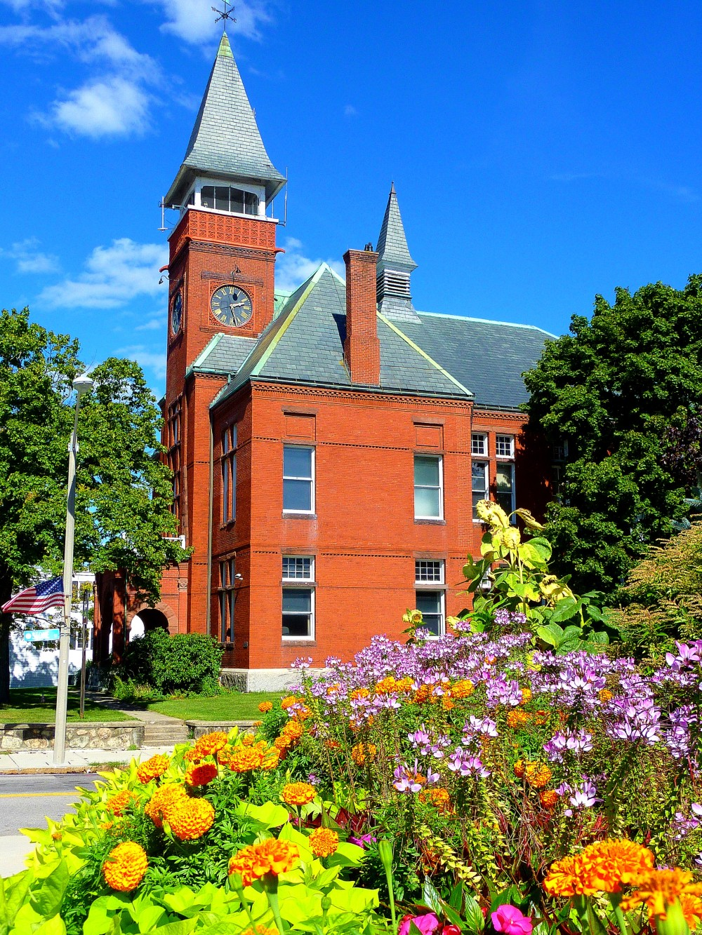 Old Town Hall in downtown Walpole, Mass.