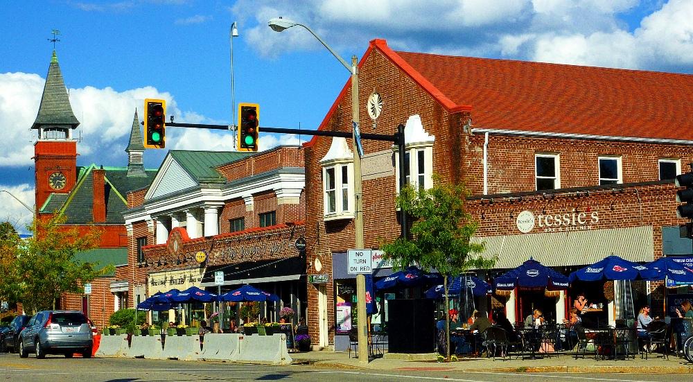Downtown Walpole, Massachusetts.