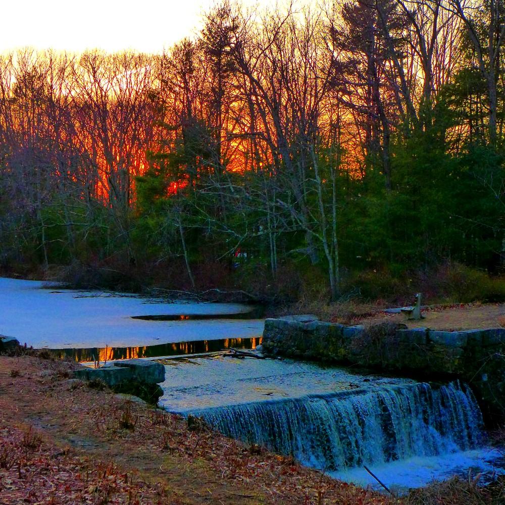 Waterfall at Walpole Town Forest, Walpole, MA.