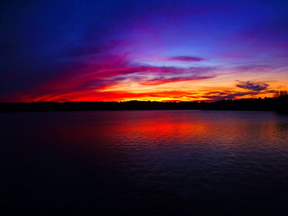 Sunset at Willett Pind in Walpole, Massachusetts.