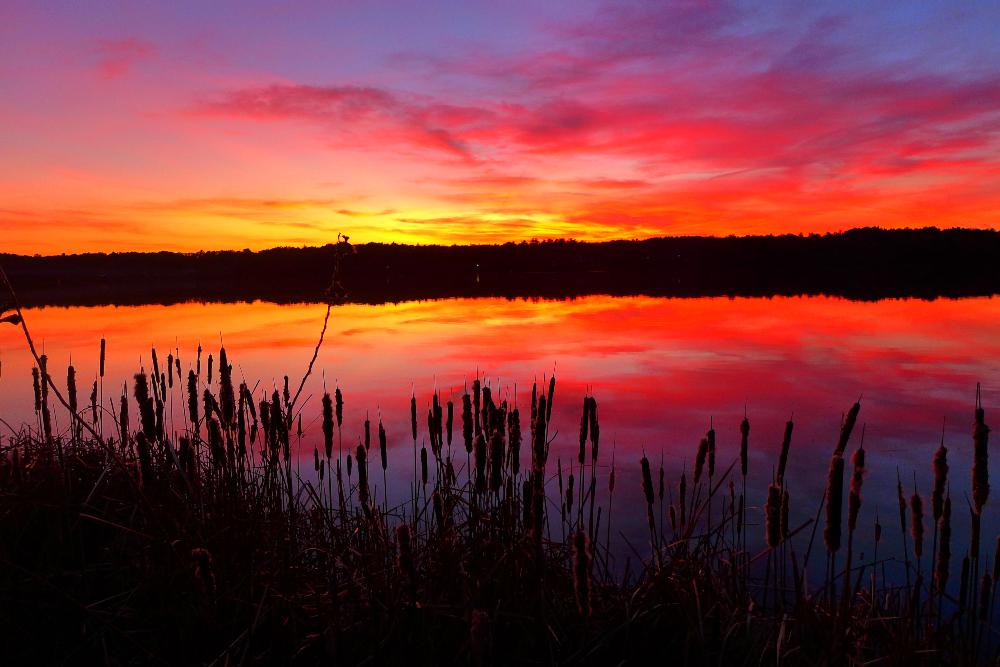 Photos of Walpole starts with Willett Pond at sunset in Walpole, Massachusetts