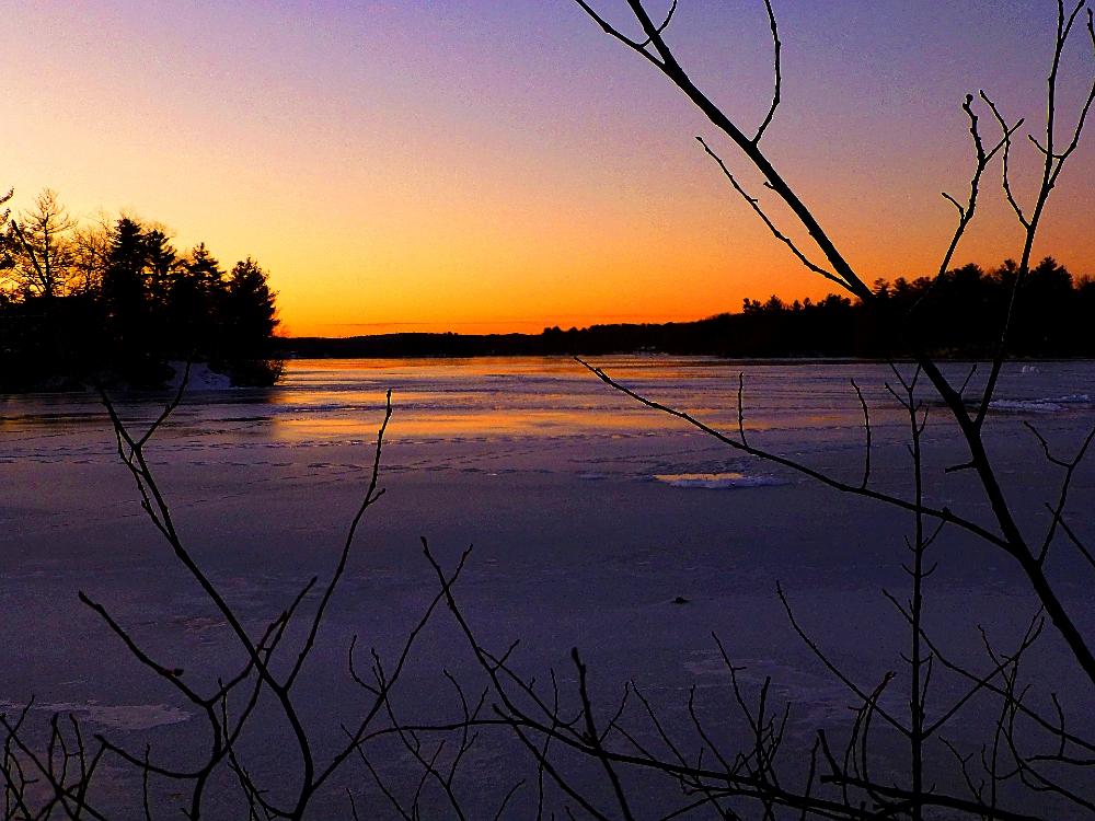 Another beautiful sunrise at Willett Pond in Walpole, Massachusetts.