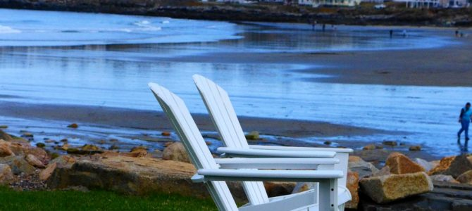 Chairs by the Ocean – Day Three of 45 Days at York Beach, Maine