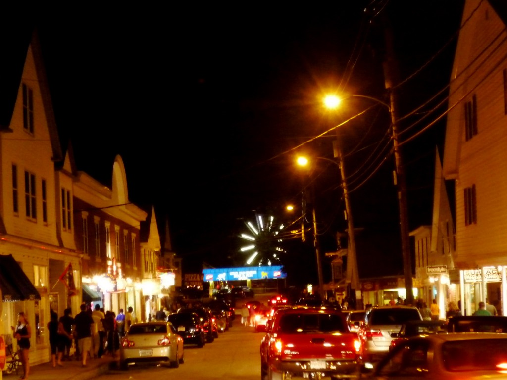 Photo of downtown York Beach Maine