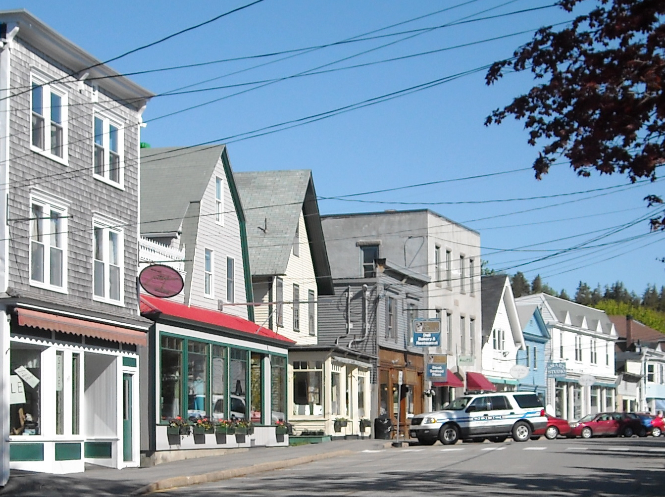 Photo of downtown Northeast Harbor, Maine