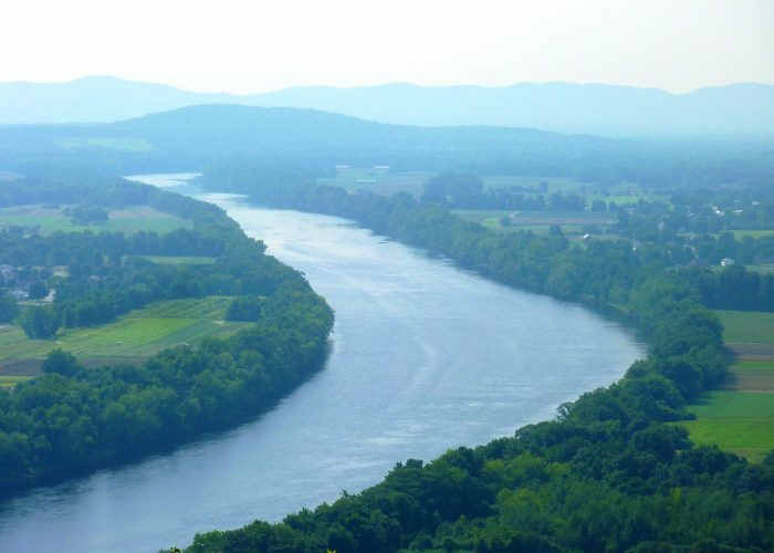 Commanding views of the Connecticut River in South Deerfield, Massachusetts.