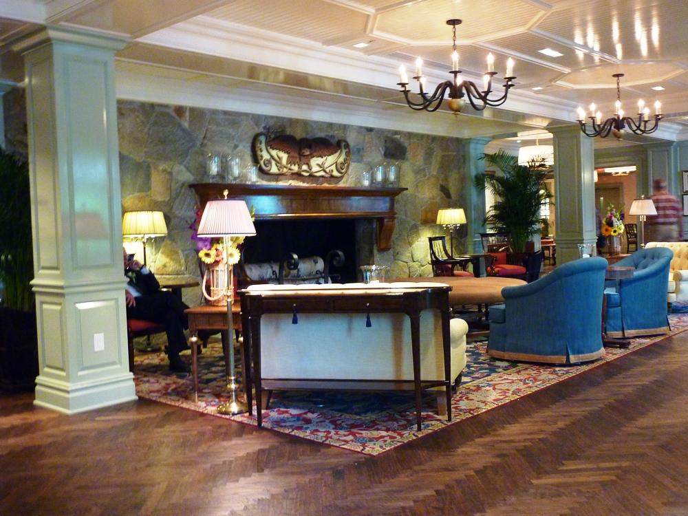 Grand lobby at the Woodstock Inn & Resort, Woodstock, VT