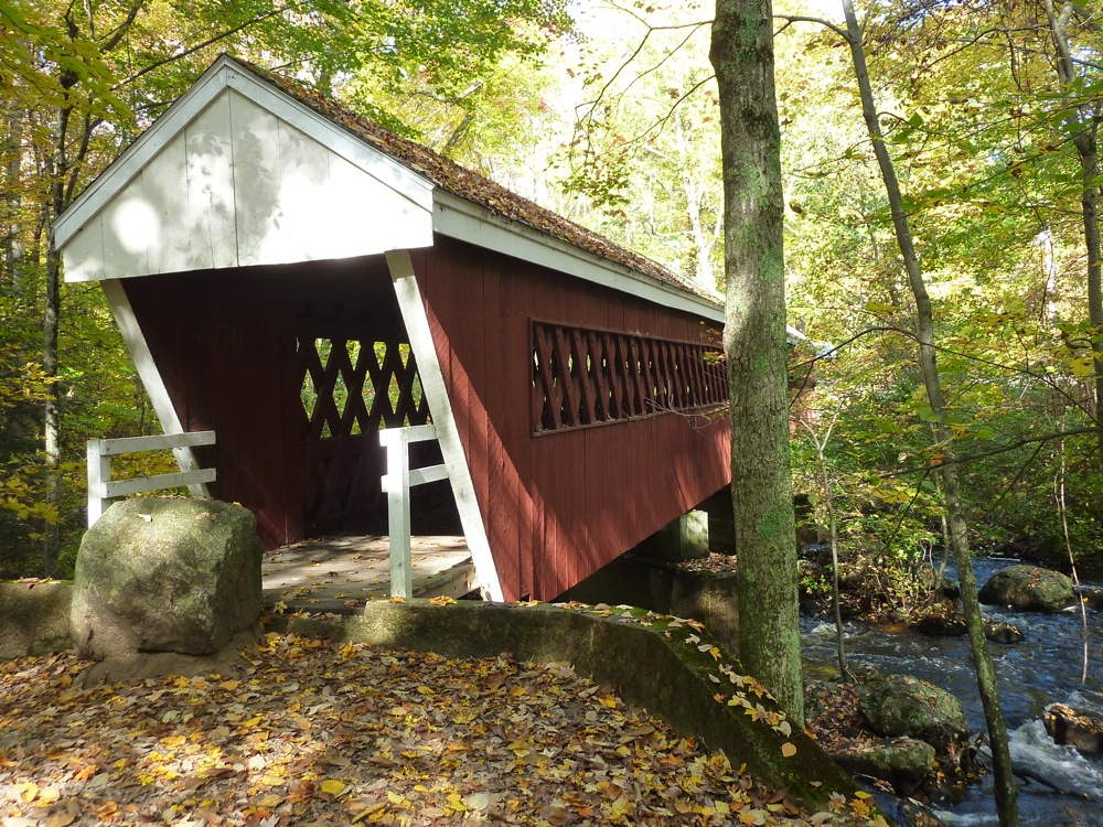 Nissitissit Covered Bridge in Brookline, New Hampshire.