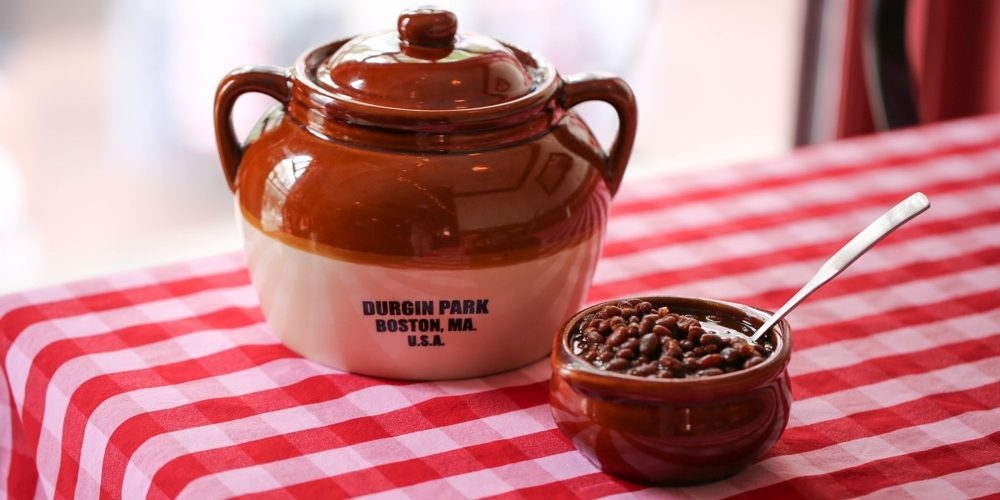 Famous New England food: Boston baked beans. Photo, courtesy of Durgin Park Restaurant, Boston, Mass.