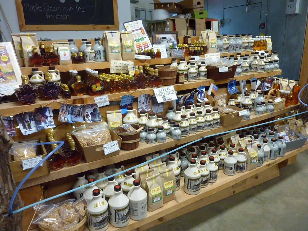 Maple products from Hager's Farm Market in Shelburne, Massachusetts.