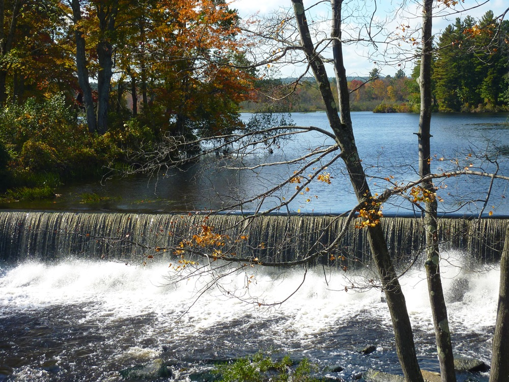 A beautiful waterfall in Townsend, Massachusetts